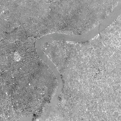 Satellite Image Photograph - Shanghai by Us Geological Survey