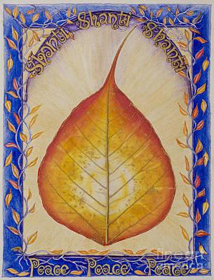 Inner Light Painting - Shanti Shanti Shanti by Moira Rowe