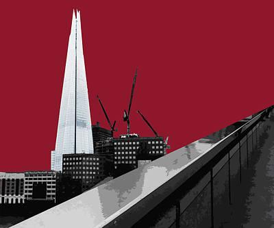 Shard - Blazing Red Print by Big Fat Arts
