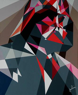 Shards Painting - Shard Vader by Ian  King