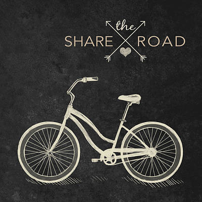 Cruiser Digital Art - Share The Road by South Social Studio