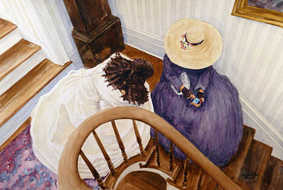 Mabry Painting - Sharing by Carl Whitten