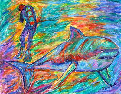 Shark Beauty Print by Kendall Kessler