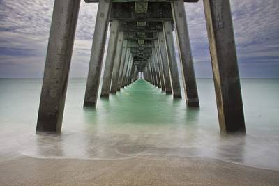 Sharkies Pier Print by Regina  Williams