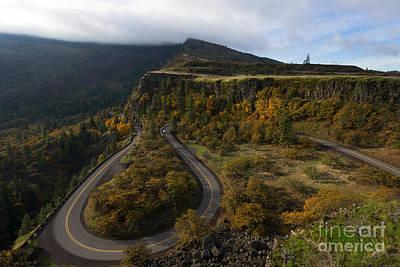 Oregon Photograph - Sharp Turns by Mike Dawson