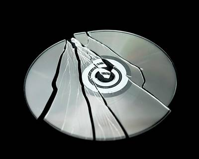 Shattered Cd-rom Print by Robert Brook