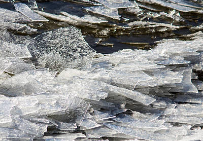 Winter Photograph - Shattered Ice by Pauline Brock