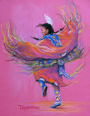 Pow Wow Painting - Shawl Dancer by Tanja Ware