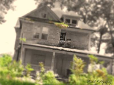 Haunted House Photograph - She Beckons by Allicat Photography