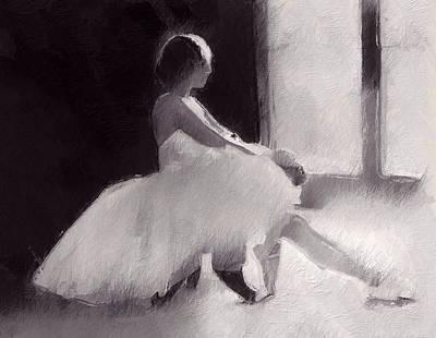 She Has A Dream Print by Steve K