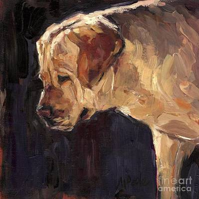 Golden Labrador Painting - She Is A Looker by Molly Poole