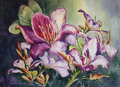 She Love Radiant Orchids Original by Roxanne Tobaison