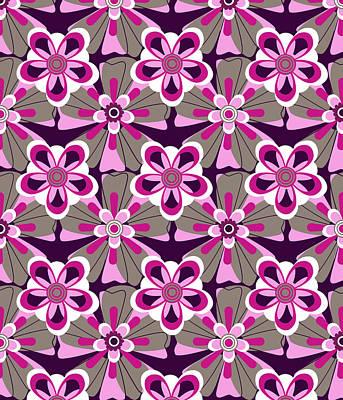She Loves Me Floral Print by Lisa Noneman