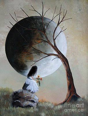 Fantasy Tree Art Painting - Original Surreal Artwork By Shawna Erback by Shawna Erback