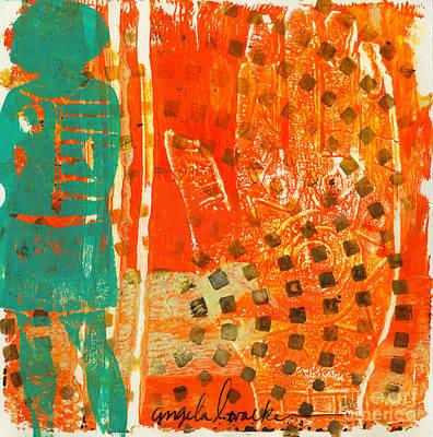 Printmaking Mixed Media - She Said Take My Hand by Angela L Walker