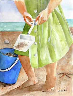 She Sells Sea Shells Print by Sheryl Heatherly Hawkins