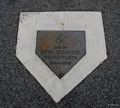 Stadium Scene Digital Art - Shea Stadium Home Plate by Rob Hans