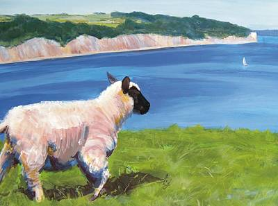 Sheep Painting - Sheep by Mike Jory