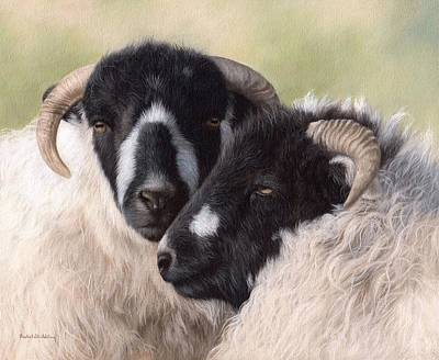 Sheep Painting Original by Rachel Stribbling