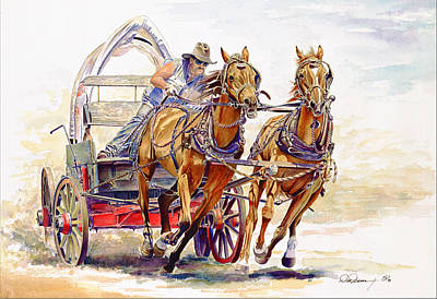 Wild Racers Painting - Sheer Horsepower by Don Dane