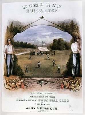Baseball Painting - Sheet Music Baseball by Granger
