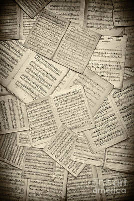 Note Photograph - Sheet Music by Tim Gainey