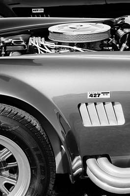 Cobra Photograph - Shelby Cobra 427 Engine by Jill Reger