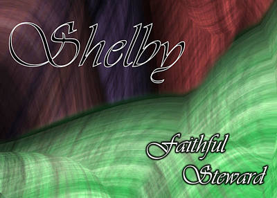Plumb Painting - Shelby - Faithful Steward by Christopher Gaston