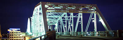Cumberland River Photograph - Shelby Street Bridge At Night by Panoramic Images