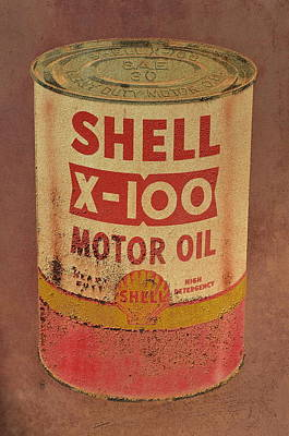 Shell Motor Oil Print by Michelle Calkins