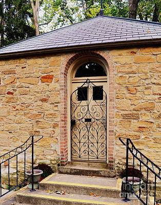 Indiana Photograph - Shell Shrine Door by Amy Lucid