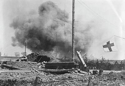 -wars And Warfare- Photograph - Shelling by Library Of Congress