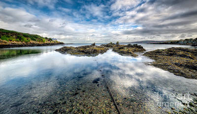 Sheltered Bay Print by Adrian Evans