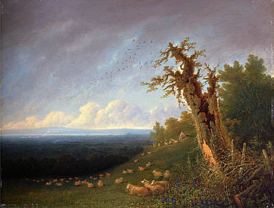Shepherd Boy Painting - Shepherd Boy On A Hillside, William Turner Of Oxford by Litz Collection
