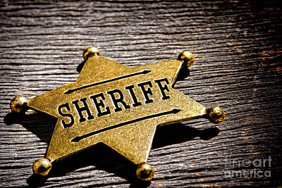 Jail Photograph - Sheriff Badge by Olivier Le Queinec