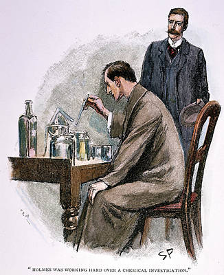 Chemical Drawing - Sherlock Holmes by Granger
