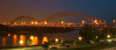 Evening Scenes Photograph - Sherman Minton Bridge - New Albany by Mike McGlothlen