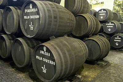 Winemaking Photograph - Sherry Barrels by Louise Murray