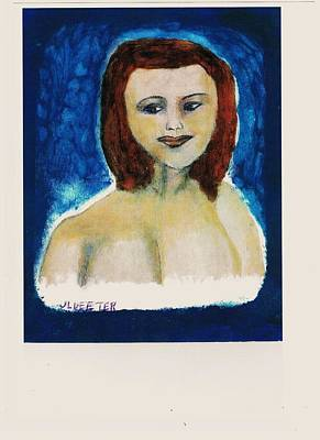 Alluring Painting - Sherry Over Blue by John Deeter