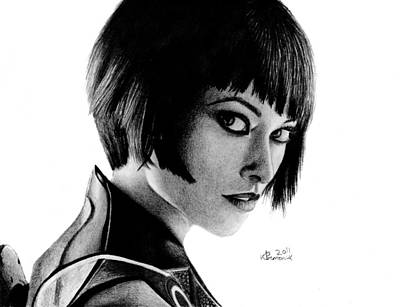 Tron Drawing - She's An Iso by Kayleigh Semeniuk