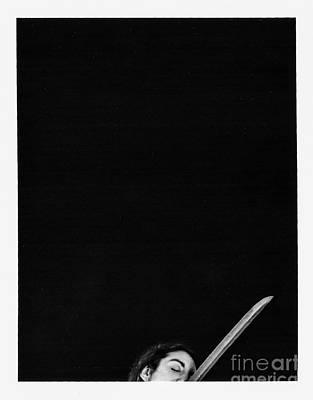 Nude Polaroid Photograph - Shhh I'm Hiding by Douglas Duerring