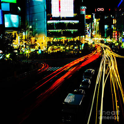 Shibuya Photograph - Shibuya At Night by Julian Cook