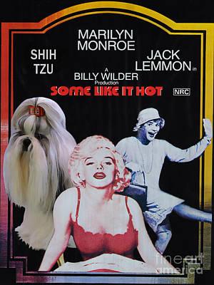 Shih Tzu Art Canvas Print - Some Like It Hot Movie Poster Print by Sandra Sij