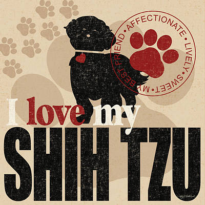 Shih Tzu Print by Kathy Middlebrook