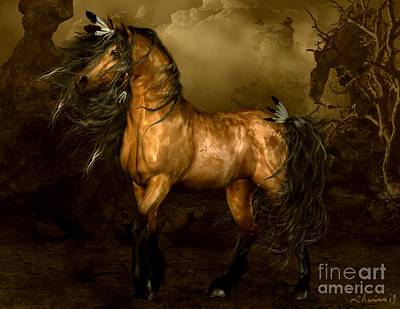 Horses Digital Art - Shikoba Choctaw Horse by Shanina Conway