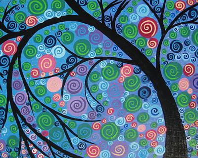 Living With Joy Painting - Shimmer Tree by Cathy Jacobs