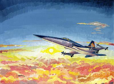 Georgio Painting - Shin Kazama - Area 88 by Georgios Moris