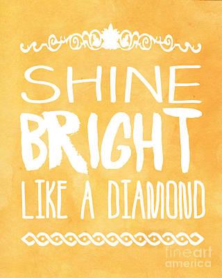 Rihanna Digital Art - Shine Bright Orange by Pati Photography