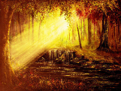 Beams Painting - Shine Your Light by Ann Marie Bone