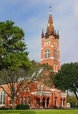 Shiner Photograph - Shiner Texas Church by Linda Phelps